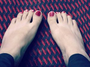 Verformte Zehen durch Schuhe